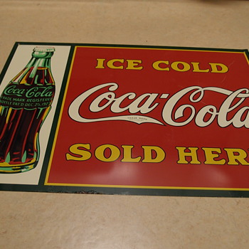 Ice Cold Coca Cola Sold Here Sign - want to know more about it!