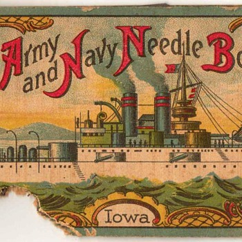 "Army & Navy Needle Book ""Iowa"" - Germany - Sewing"