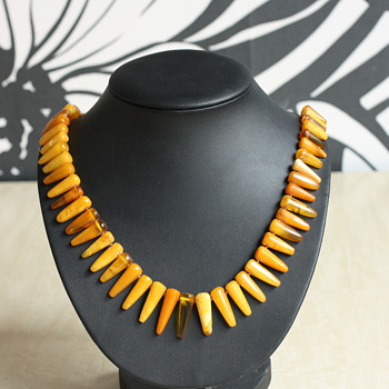 Amber art deco necklace - Fine Jewelry