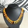 Amber art deco necklace