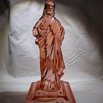 Blessing font - Jesus figure - Art Glass