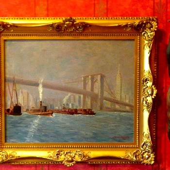 New York City Harbor 1916 - Fine Art