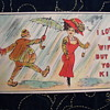 """SHEET MUSIC AND POSTCARD MATCH UP  """" I LOVE MY WIFE BUT OH YOU KID"""" 1909"""