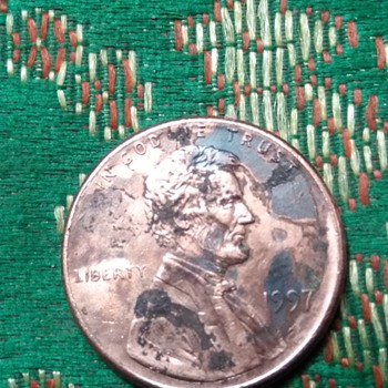 1991 penny missing Clad? - US Coins