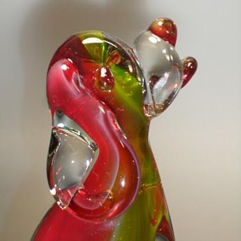 """Murano Amberina Dog - 6"""""""