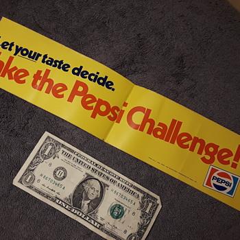 original TAKE THE PEPSI CHALLENGE bumpersticker - Advertising