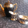 Vintage Gibsons England Earthenware Coffee/Serving Pot A664 and Cincinnatus Quadruple Plate Creamer and Sugar