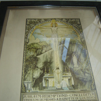 PAX CHRISTI IN REGNO CHRISTI Religous Print Litho? Very Old Christ Rising - Posters and Prints