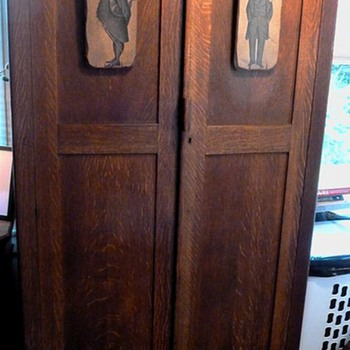 Mission Oak Gentleman's  Cabinet