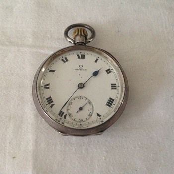 1924 silver cased Omega pocket watch. - Pocket Watches