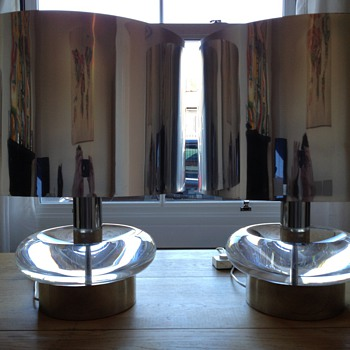 Pair of (Italian? art deco ?) lamps - Lamps