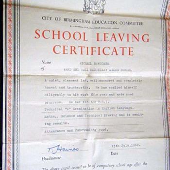 1962-birmingham-ward end hall secondary modern mixed school. - Paper