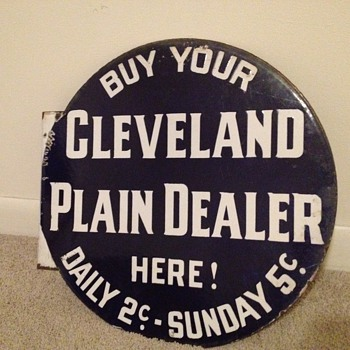 Cleveland Plain Dealer Sign - Signs
