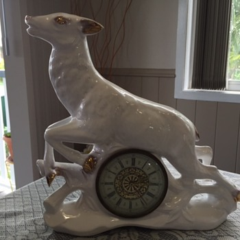 Jema Holland (Very Large) Deer Mantle Clock numbered )474)