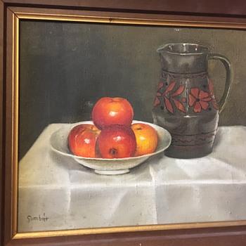 Still Life Painting [Signed] MYSTERY ARTIST - Fine Art