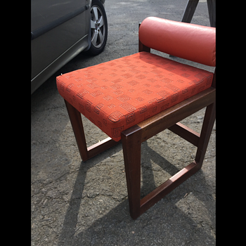 Mid Century style box chair with low back