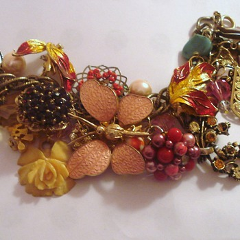 Eclectic Charm Bracelets ~ New Life for Old Jewelry - Costume Jewelry