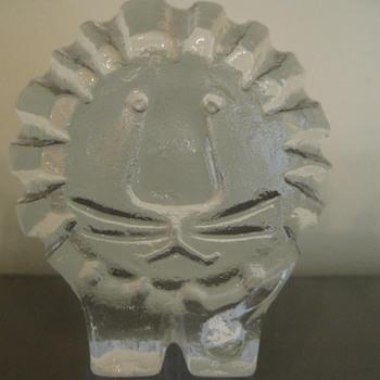 Lisa Larson Lion?? - Art Glass