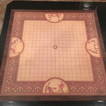 Original Deluxe Wooden/Linen Pente Set signed by Gabrel - Games