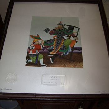 Arte Chino lithograph - Lamina III