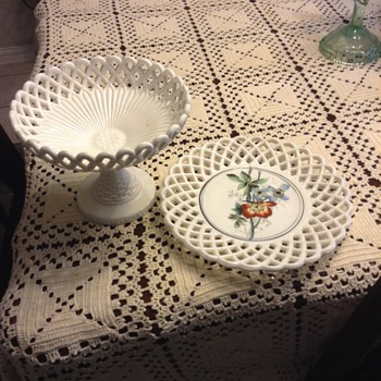 Fruit bowl and plate - China and Dinnerware