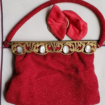 Beaded Cameo Handbag (Made in France) - Bags