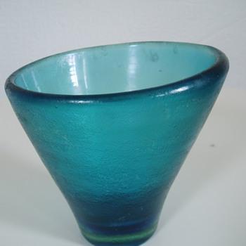 VENINI MURANO CORROSO VASE - Art Glass
