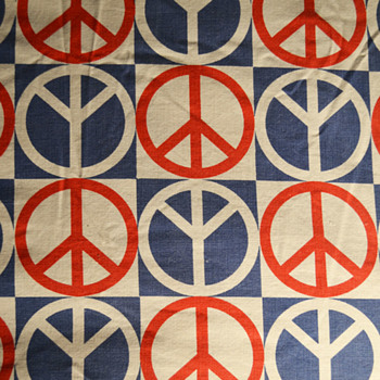 Peace symbol bed spread  - Rugs and Textiles