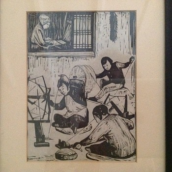 Set of Chinese Woodcuts Prints from 1944