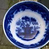 Victorian Flow Blue Slop Bowl, Thrift Shop Find, A Buck