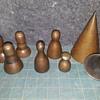 """more antique 'pipe organ brass' tools -- """"toe cones"""""""