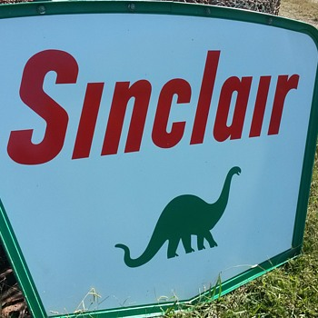 Double sided SINCLAIR DINO - Advertising