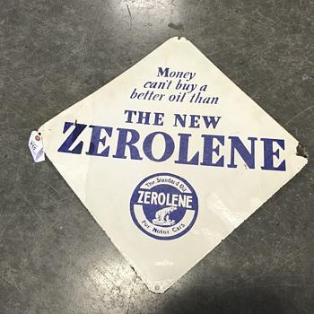 Zorolene motor oil sign - Petroliana