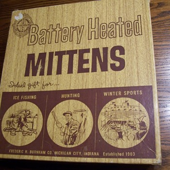 VINTAGE BURNHAM BATTERY HEATED MITTENS  - Accessories