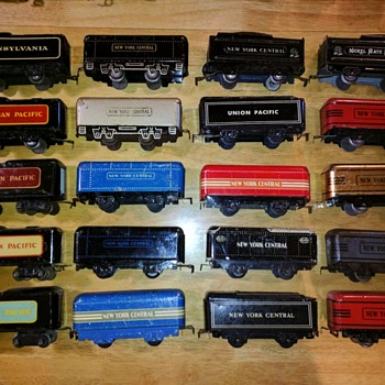 Marx Tinplate 6 inch tender variations - Model Trains