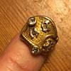 Antique Masonic ring  14k with diamonds