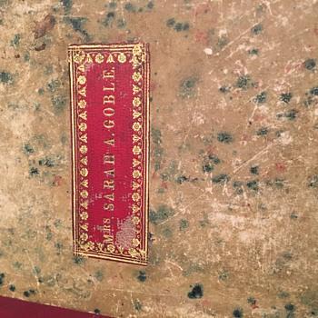 Vintage 1800's book