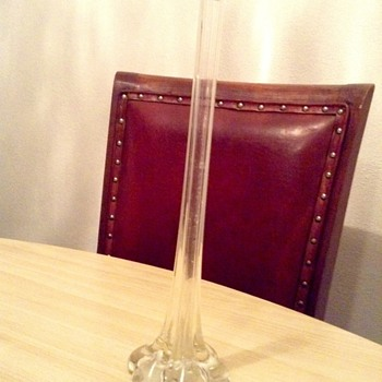 Clear glass vase - Glassware