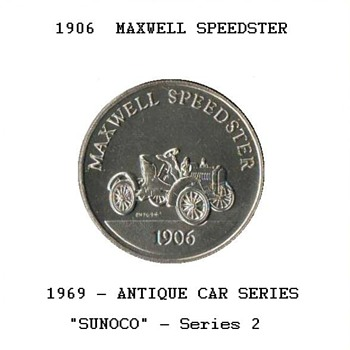 Sun Oil Co. - Antique Car Coin - Advertising