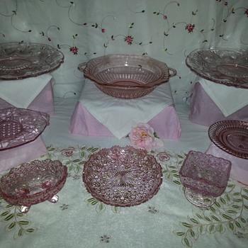 Pink Depression Glassware - Glassware