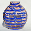 "Kralik ""Wave"" pattern ball vase"