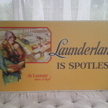 1920's ? Laundry Lithograph - Posters and Prints