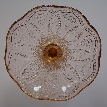 Pressed glass compote - Glassware