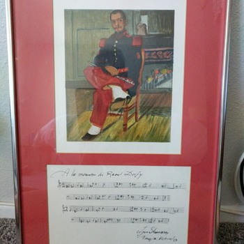 Mystery drawing & song I was given from Grandma - Fine Art