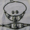 Asian? Necklace Set Signed W. Germany