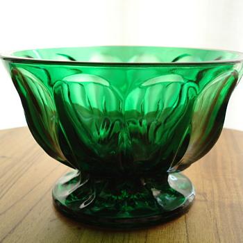Green compote bowl - Glassware