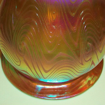 Loetz Coil Decorated Shade - Art Glass