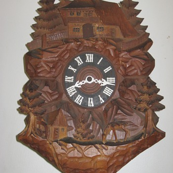 Carved Cuckoo Clock, ca. 1950s - Clocks