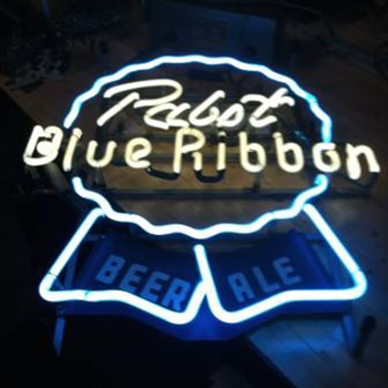 Pabst Blue Ribbon Beer Ale Neon - Breweriana