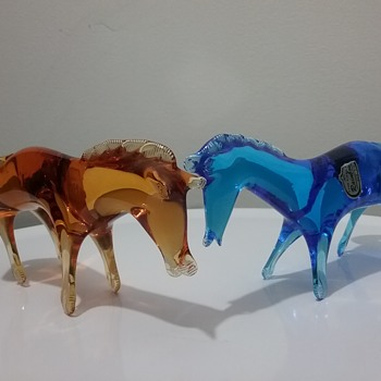 Rainbow Glass horses - Animals